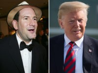 Matt Drudge, editor and founder of the Drudge Report (L), and President Donald Trump (R).