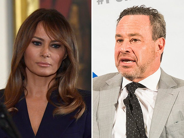 Melania Trump and David Frum.