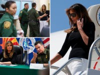 Melania Trump tours a border facility in Tucson, Arizona.