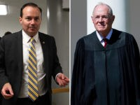 Sen. Mike Lee (R-UT) and retiring Supreme Court justice Anthony Kennedy.