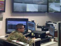 Texas National Guardsman Sgt. Javier Olmos monitors the Rio Grande River border near Eagle Pass, Texas. (Photo: U.S. Border Patrol)