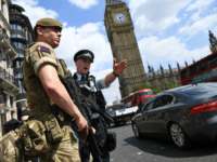 "Britain's terror threat assessment has been raised to ""critical"", the highest level, meaning an attack is considered imminent (AFP/ Justin TALLIS)"