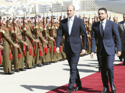 Photo by: zz/KGC-22/STAR MAX/IPx 2018 6/24/18 Prince William The Duke of Cambridge arrives at Amman Civil Marka International Airport in Amman, Jordan at the start of his five day tour of the Middle East where he will visit Jordan, Israel and the Occupied Palestinian Territories. William was greeted by Crown …