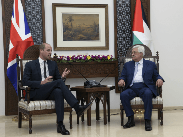Prince William, Duke of Cambridge makes first official visit to Israel by a member of the Royal Family. Here, Prince William visits the Occupied Palestinian Territories. His first stop was a meeting with Palestinian Authority President Mahmoud Abbas at the Office of the President, Ramallah.
