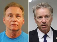 Sen. Rand Paul (R-KY) and the mugshot of Rene Bouchard, his neighbor who allegedly attacked the senator and broke his ribs.