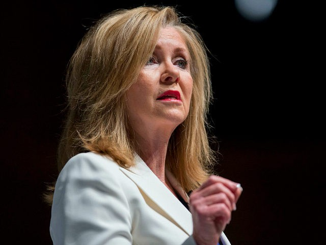 Representative Marsha Blackburn, a Republican from Tennessee, during the South Carolina Freedom Summit hosted by Citizens United and Congressman Jeff Duncan in Greenville, South Carolina, U.S., on Saturday, May 9, 2015. The Freedom Summit brings grassroots activists from across South Carolina and the surrounding area to hear from conservative leaders …