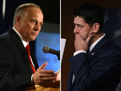 Rep. Steve King and Speaker of the House Paul Ryan.