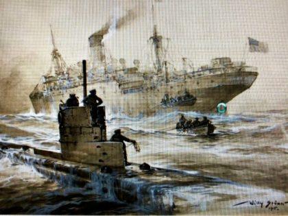 submarine sinking boat