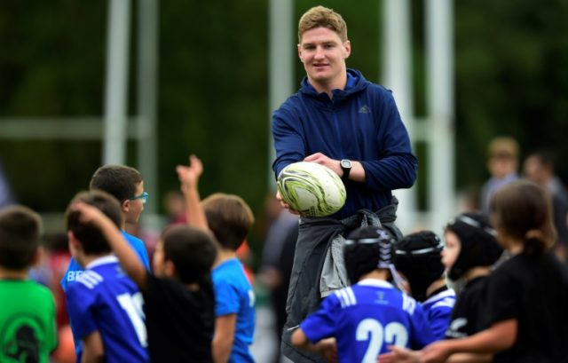 All Black's player Jordie Barrett, pictured in 2017, will join two of his brothers on the All Blacks team against France