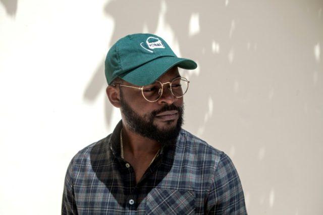 Nigerian rapper Falz poses in his garden in Lagos