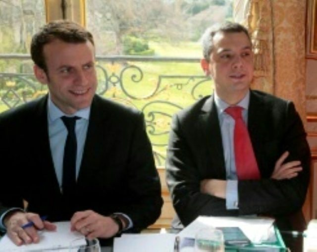 French President Emmanuel Macron, pictured here when economy minister in 2016, with his chief of staff Alexis Kohler