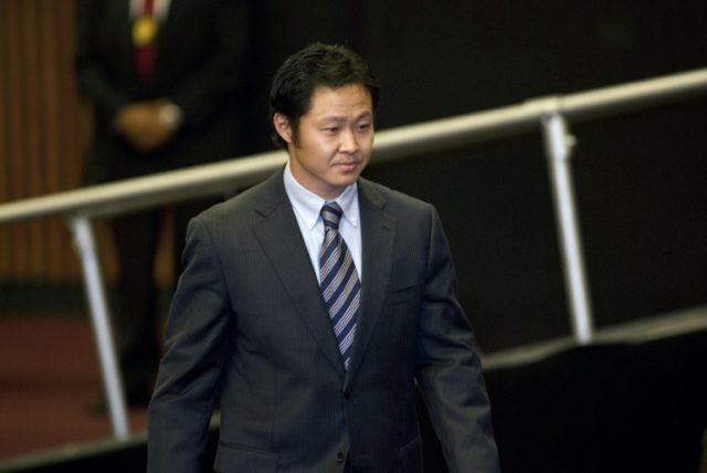 Peruvian lawmaker Kenji Fujimori -- seen here in 2011 -- could face a ban on running for office if he is dismissed from Congress