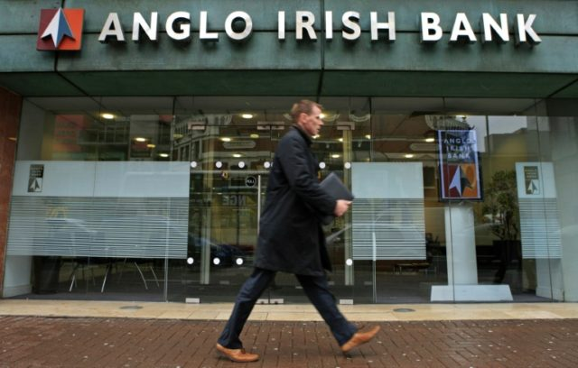 Anglo Irish Bank required a huge state bailout and was nationalised in 2009