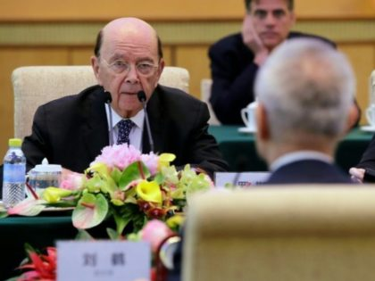 US Commerce Secretary Wilbur Ross, who announced a deal to ease sanctions on Chinese firm ZTE, is seen at a June 3 meeting in Beijing with Chinese Vice Premier Liu He