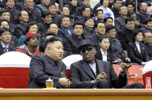 Retired NBA great Dennis Rodman -- shown here in 2013 with Kim Jong Un at a basketball game in Pyongyang -- has been to North Korea five times since Kim took power