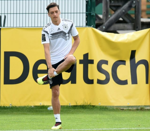 Germany's midfielder Mesut Ozil is an injury concern before the World Cup with a knee injury and will miss Friday's warm-up match against Saudi Arabia in Leverkusen.
