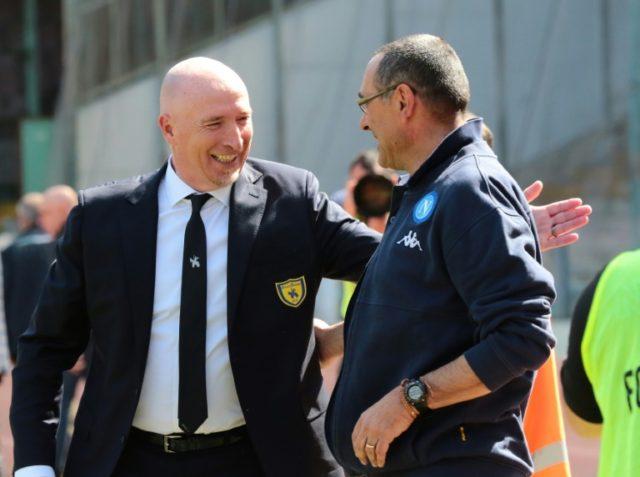 Italian Rolando Maran (L) was appointed Cagliari coach on Thursday.