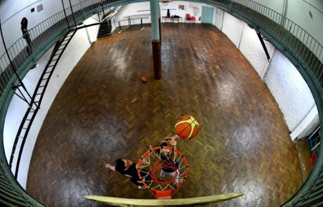The hardwood court on the Rue de Trevise in Paris is thought to be the oldest surviving basketball court in the world