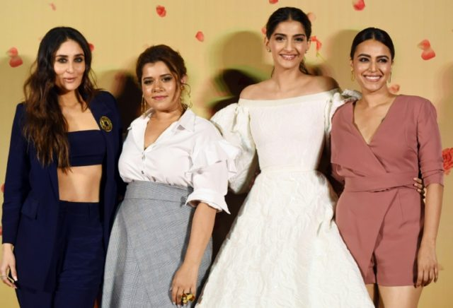 """Veere Di Wedding"" centres on four female friends and their attitudes towards sex, love and marriage. Swara Bhaskar (R) has hit back at a torrent of online abuse over a masturbation scene in the film"