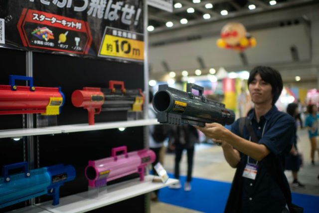 Anti-watertank: This bazooka can fire a water bomb up to 10 metres