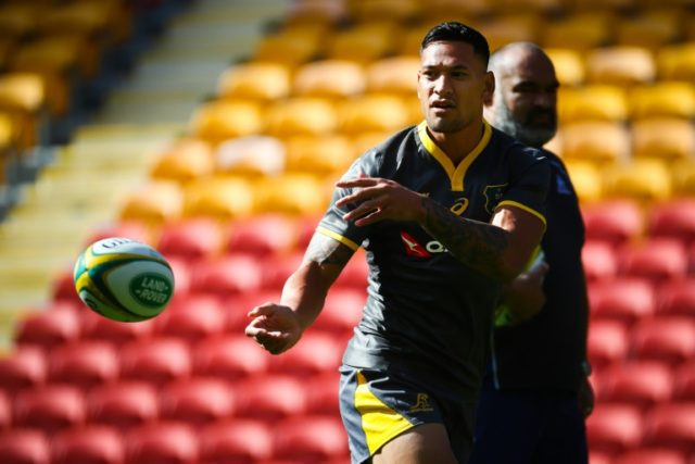 Australia's Israel Folau is regarded as one of the best players in world rugby under the high ball.