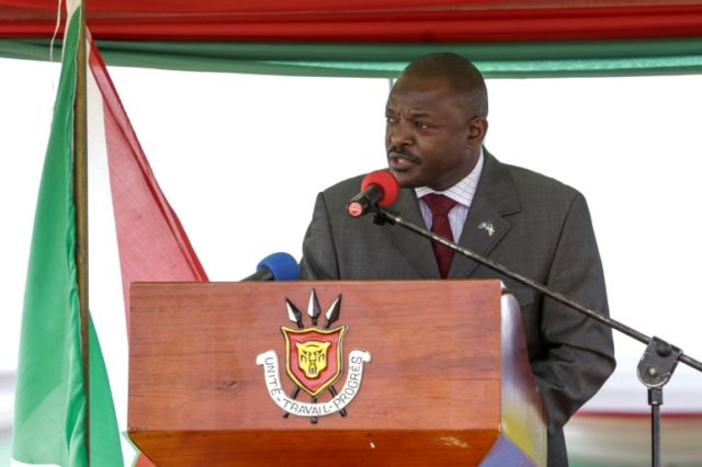 Nkurunziza made the surprise announcement at ceremonies to usher in Burundi's controversial new constitution