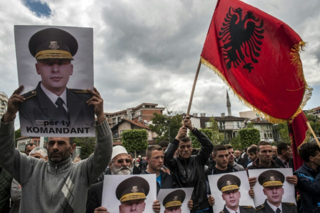 Kosovo Albanians show support for jailed ex-Kosovo Liberation Army commander Sylejman Selimi, sentenced for torturing prisoners, and opposition to the EU-backed court that tried former fighters with varying degrees of success