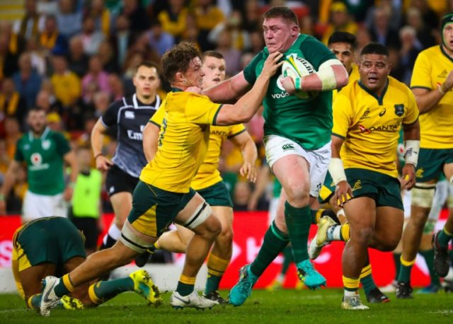 The Wallabies hammered Ireland with some massive tackles