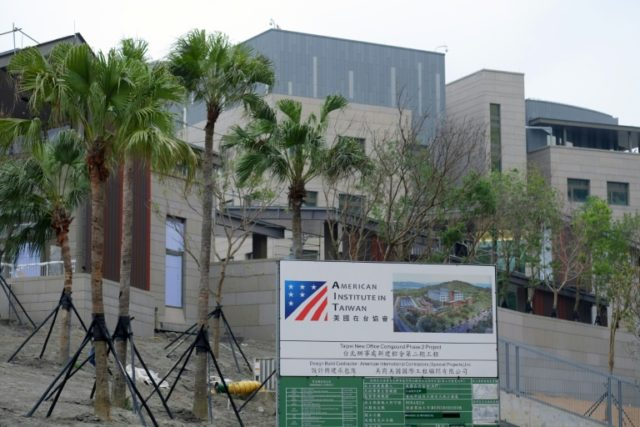 The American Institute of Taiwan is Washington's de facto embassy on the island