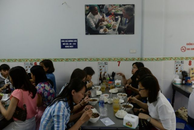 The restaurant in Hanoi's leafy Old Quarter soared to fame after a 2016 sit-down between Obama and Bourdain for his CNN show