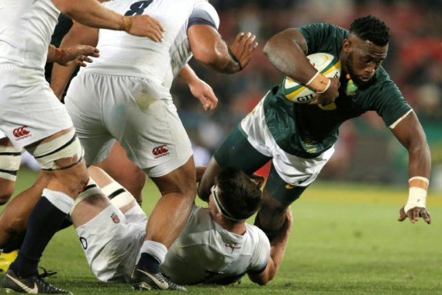 Flanker Siya Kolisi is the first black South African to captain the national rugby side