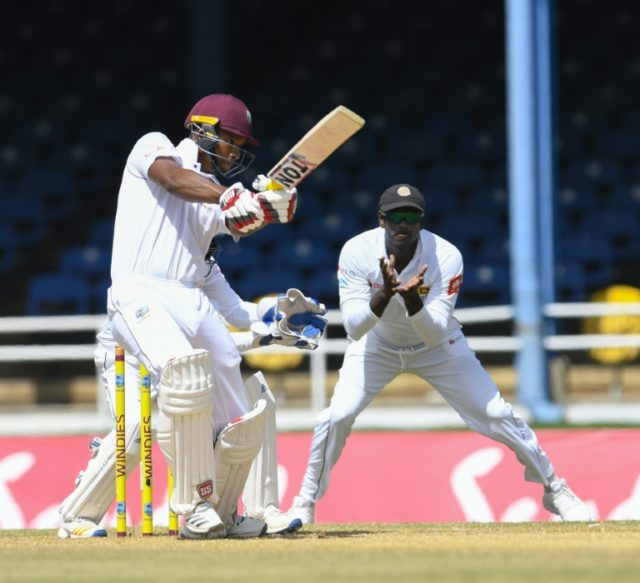 Kieran Powell top scored for West Indies with 88 before captain Jason Holder declared for the second time in the Test
