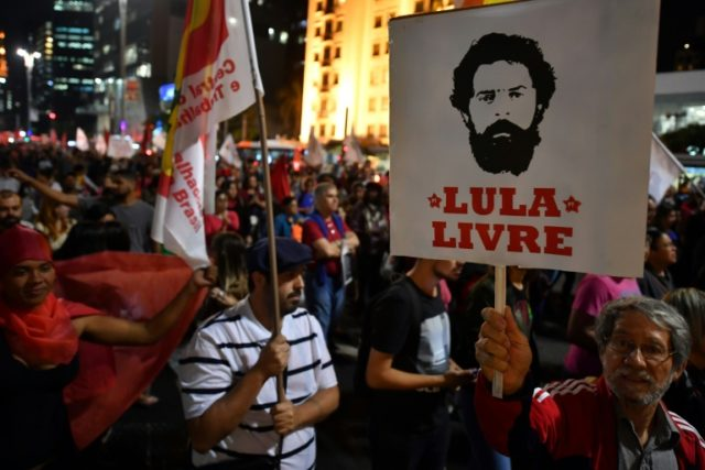 Demonstrators took to the streets of Sao Paulo in late May demanding Lula's release from prison