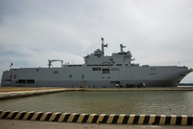 The French navy's assault ship Dixmude late last month sailed around the South China Sea to push back against Beijing's claim to own most of the resource-rich waters