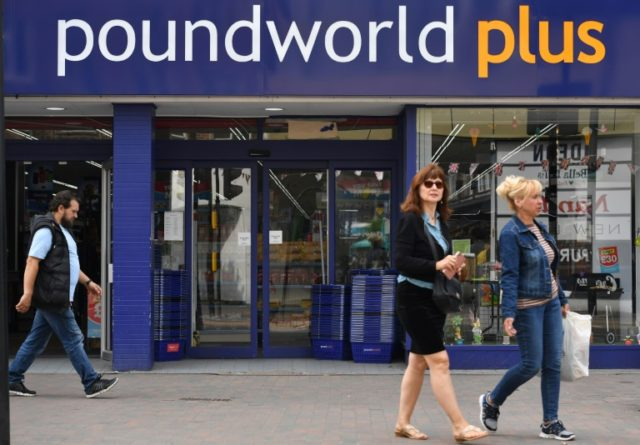 Poundworld sells items including household cleaning items and confectionery