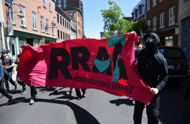 Protesters march in Quebec City as the G7 Summit gets underway.