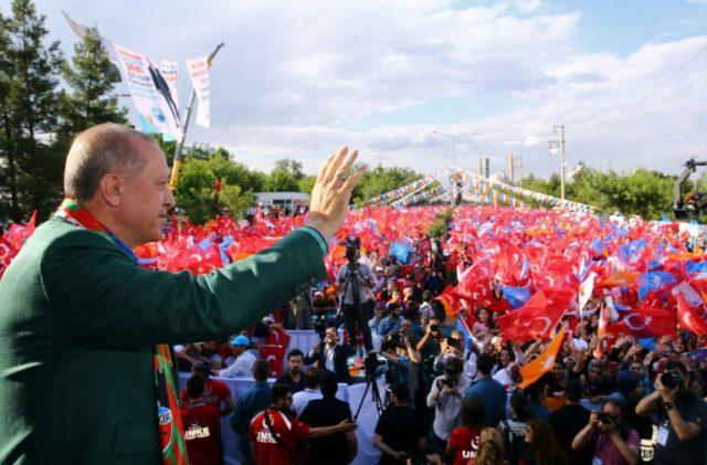 Turkish President Recep Tayyip Erdogan is seeking crucial Kurdish votes in his bid for re-election