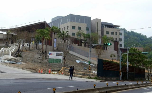 The new de facto US embassy in Taipei reaffirms Washington's committment to Taiwan as China steps up diplomatic and military pressure on the self-ruled island