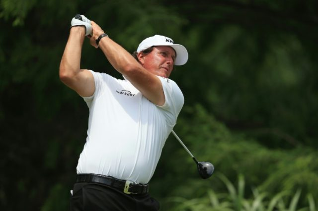 Phil Mickelson, pictured on June 9, 2018, has experienced plenty of heartbreak in 26 prior US Opens