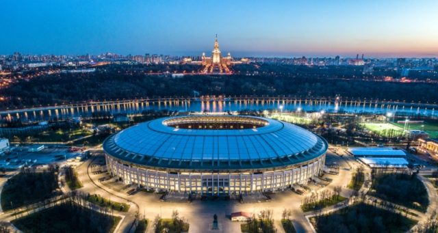 The Luzhniki is one of two World Cup stadiums in congested Moscow