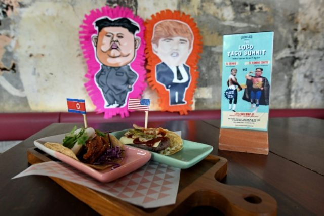 Restaurants and bars in food-crazy Singapore are rolling out weird and wonderful creations ahead of the arrival of Donald Trump and Kim Jong Un