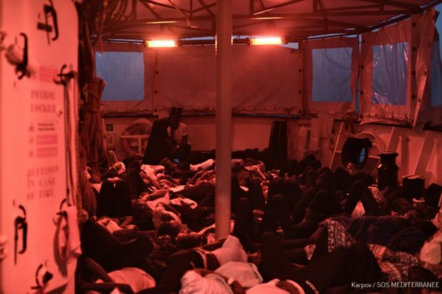 With 629 migrants onboard, conditions on the Aquarius, which was built to carry 500, are extremely cramped
