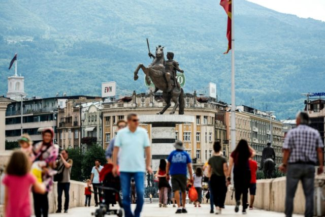The old bridge of the Vardar river is in front of the monument of Alexander the Great in the center of Skopje. Macedonia's history textbooks now look set for another overhaul as the Balkans country closes in on a settlement with neighbouring Greece in a decades-long, bitter dispute over its …