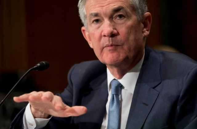 Federal Reserve boss Jerome Powell said the US economy was 'in great shape'