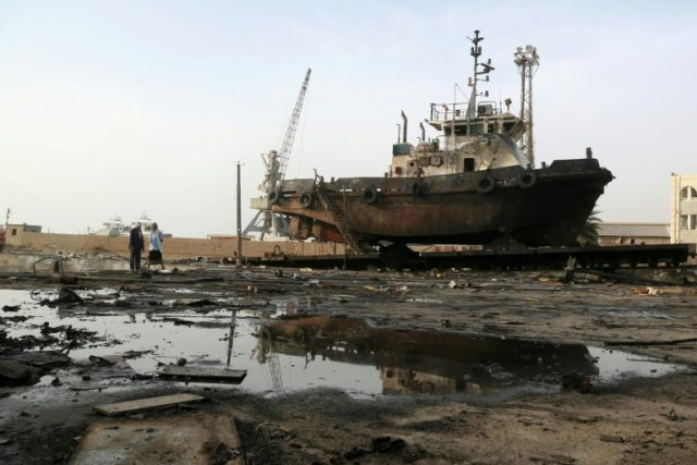Air strike in late May damaged the maintenance hub at the Hodeidah port, where Saudi-backed Yemeni forces have now launched a major offensive to take back the city from rebels. The fighting is greatly disrupting desperately needed food aid supplies.