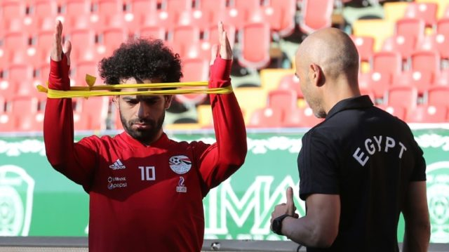 Mohamed Salah is battling to be fit for Egypt's opening game against Uruguay