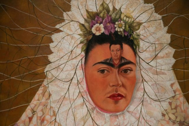 "The Frida Kahlo exhibition in London includes this 1943 painting entitled ""Self-portrait as a Tehuana"""