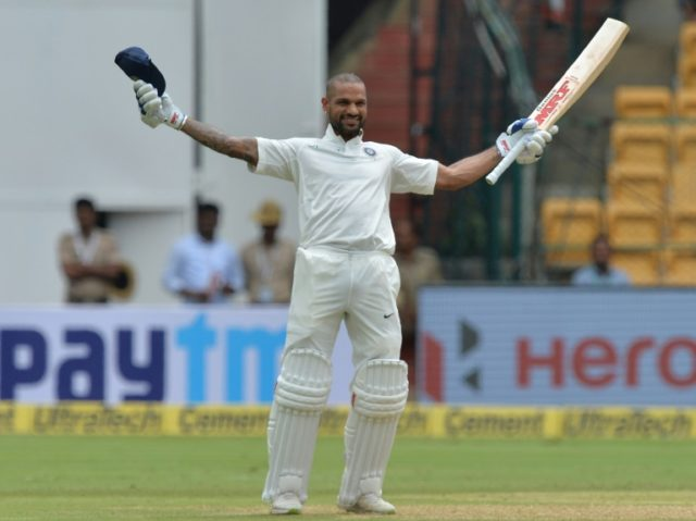 Shikhar Dhawan became the first Indian batsman to score a century in the first session of a Test.