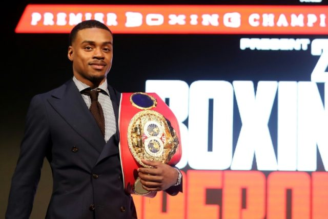 Errol Spence Jr., pictured in January 2018, will face Carlos Ocampo, 22-0 with 13 knockouts
