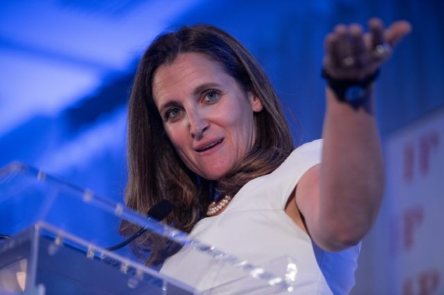 Canadian Foreign Minister Chrystia Freeland is confident European Union-Canada free trade agreement will be ratified by all parties, despite Italy's refusal to ratify the deal